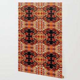 Traditional Christmas Star Pattern Wallpaper