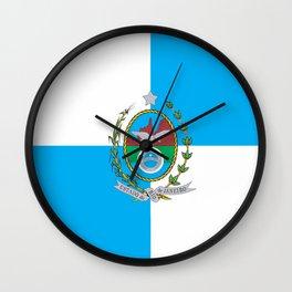 flag of the state of Rio de Janeiro Wall Clock