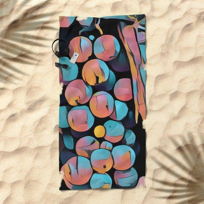 Wine Grapes Beach Towel