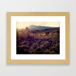October Sunset at Salida Framed Art Print