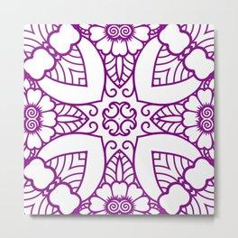 Mindful Mandala Pattern Tile MAPATI 123 Metal Print