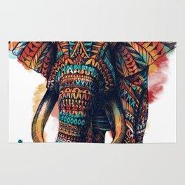 Ornate Elephant (Watercolor) Rug