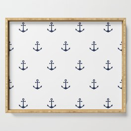 Anchor Pattern Serving Tray