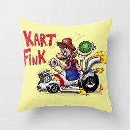 Kart Fink Big Bro! Throw Pillow