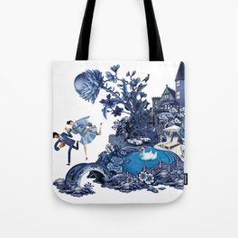 The Lovers Flee Tote Bag