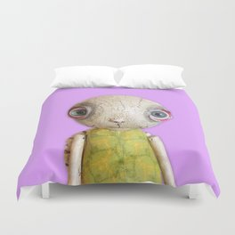 Sheldon The Turtle - Purple Duvet Cover