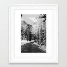 The Road Through Winter Framed Art Print