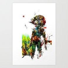 MGS Raiden Art Print