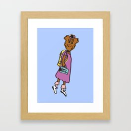Buffy the Puppy Framed Art Print