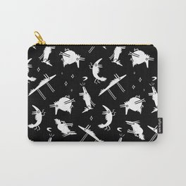 White Wolf Repeat Pattern Carry-All Pouch