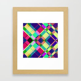 Pastel Interaction Framed Art Print