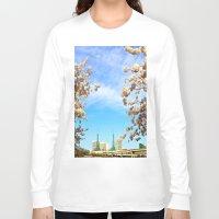 portland Long Sleeve T-shirts featuring Portland Hanami by Casey J. Newman