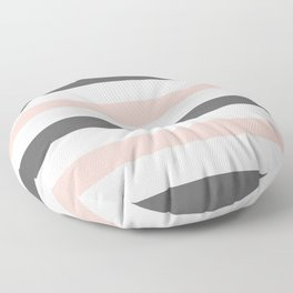 Grey and Pink Stripes Floor Pillow