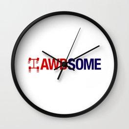 AWDSOME v2 HQvector Wall Clock