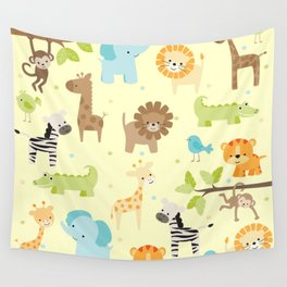 Jungle Animals Wall Tapestry
