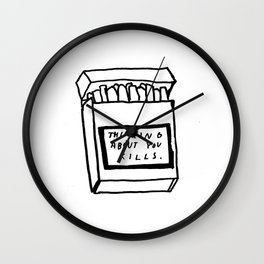 SMOKING ABOUT YOU Wall Clock