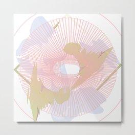Abstract Graphics Pink Metal Print