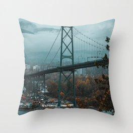 Bridging the Autumn Throw Pillow