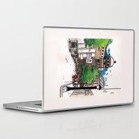 philippines Laptop & iPad Skins featuring Philippines : Santa Cruz Church by Ryan Sumo