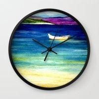 jamaica Wall Clocks featuring Jamaica by Brazen Edwards