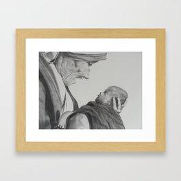 Mother Teresa and Child Framed Art Print