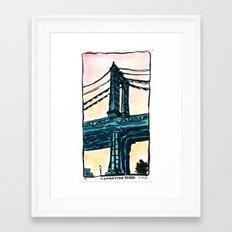 Manhattan Bridge - New York Framed Art Print