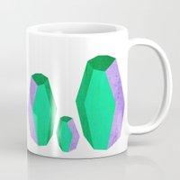 emma stone Mugs featuring Stone  by Emma Nygren