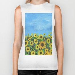 Sunflower Field Biker Tank