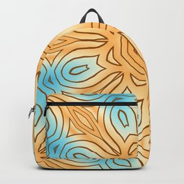 Sea Beach Summer Kaleidoscope Abstract Pattern Backpack