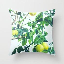 Foliage I / Lemon Tree Throw Pillow