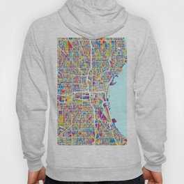 Milwaukee Wisconsin City Map Hoody