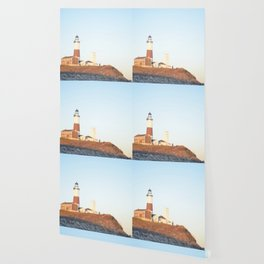 Sunset at Lighthouse in East Hampton Wallpaper