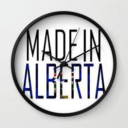 Made in Alberta Wall Clock