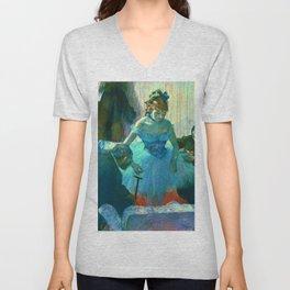"""Edgar Degas """"Dancer In Her Dressing Room"""" Unisex V-Neck"""