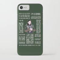 loki iPhone & iPod Cases featuring Loki by MacGuffin Designs