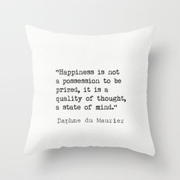 Daphne du Maurier quote Throw Pillow