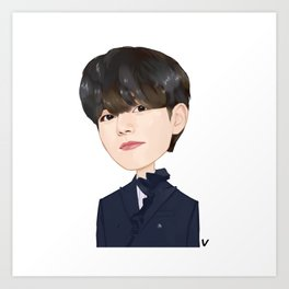 BTS Today Show Dynamite V Best Item, , BangTan Boys. Art Print