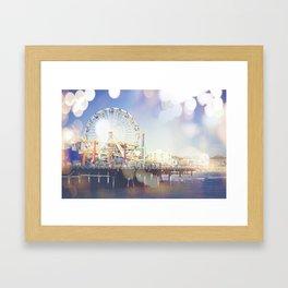 Santa Monica Bokeh Framed Art Print