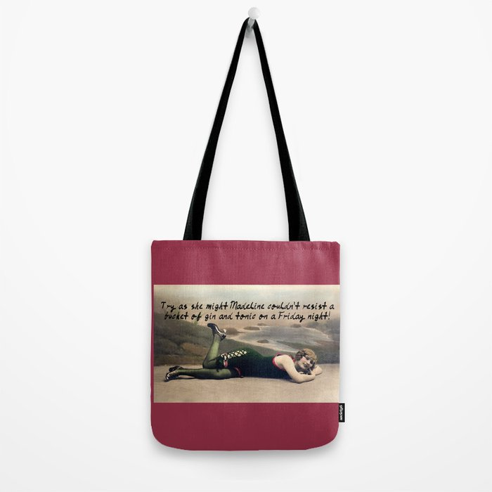 Madeline: Vintage Gin and Tonic Tote Bag