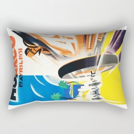 Grand Prix Monaco, 1931, vintage poster Rectangular Pillow