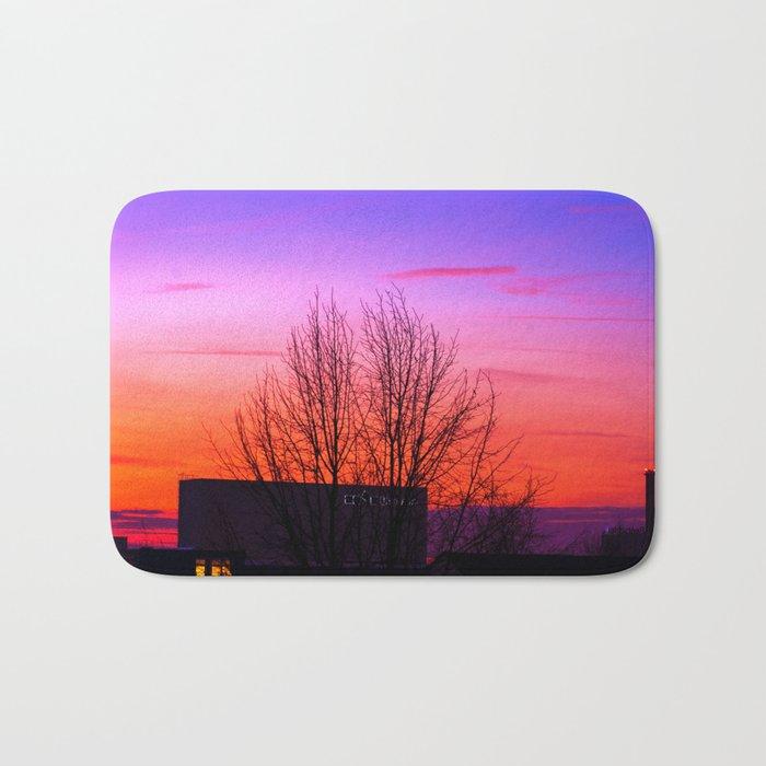 Concept landscape : city sunset Bath Mat