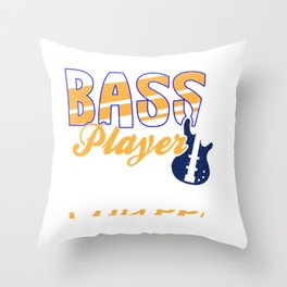 Bass Player Guitar Music Coffee Lover Vintage Gift Throw Pillow