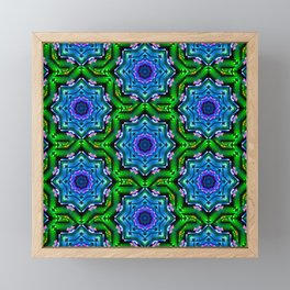 earth kaleidoscope Framed Mini Art Print