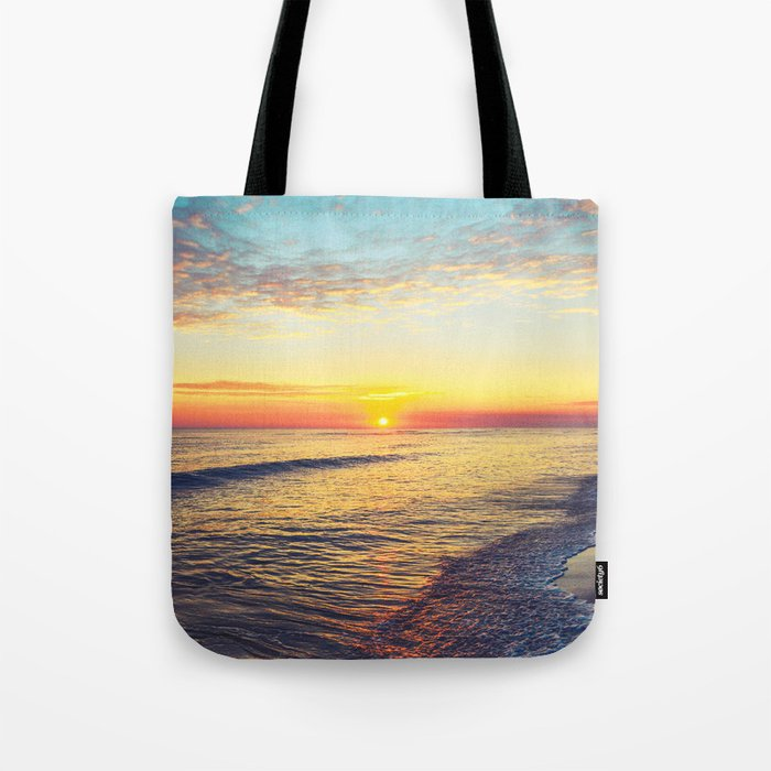 Summer Sunset Ocean Beach - Nature Photography Tote Bag
