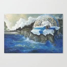 On The Other Side Of Wastelands - Oceanside Canvas Print