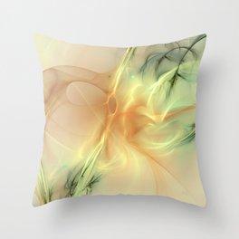 Warm Synergy Fractal Throw Pillow