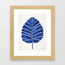 Elephant Ear Alocasia – Navy Palette Framed Art Print