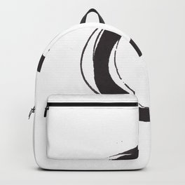 Enso Zen Ink Painting Circle in Black and White Backpack