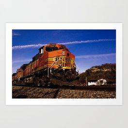 Grandpa's Train Art Print