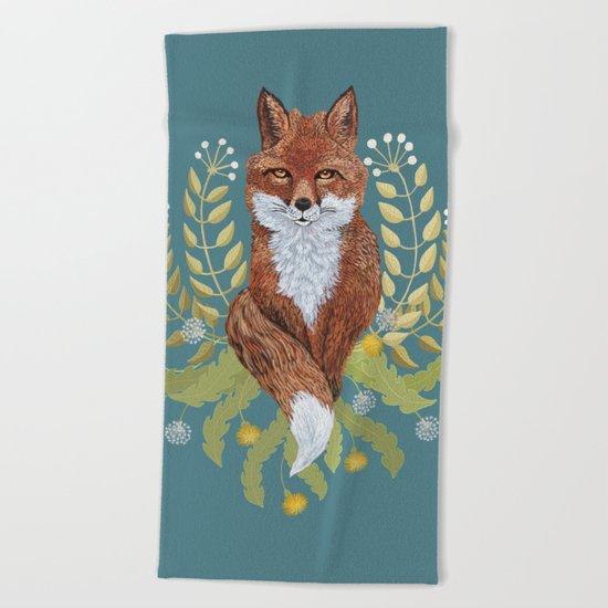 Fox Brown Beach Towel